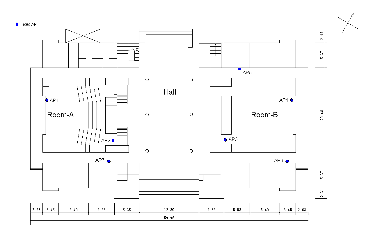 1st floor map of the Conference Hall Hokkaido University