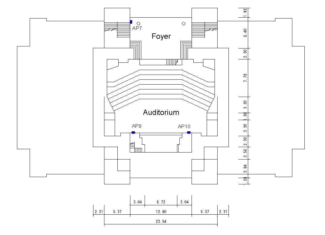 2nd floor map of the Conference Hall Hokkaido University